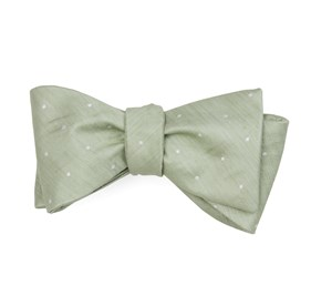 Sage Green Bulletin Dot bow ties