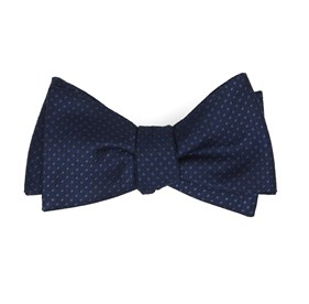 Dotted Spin Navy Bow Ties