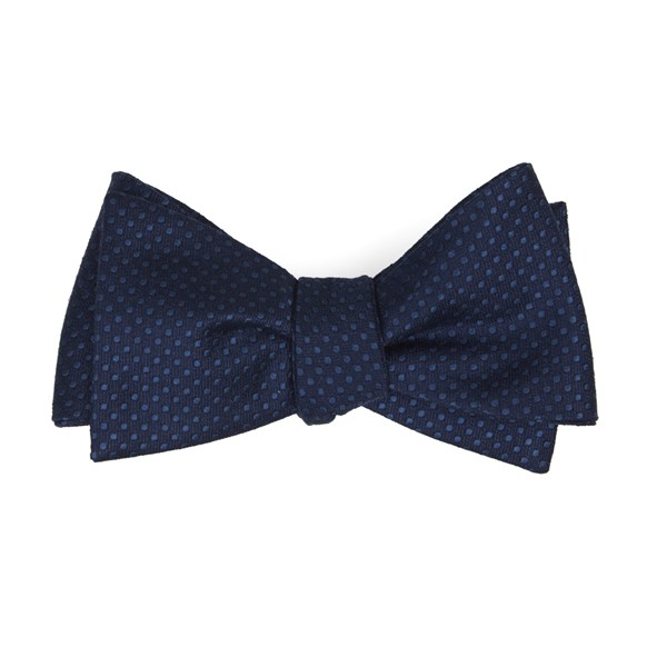 Navy Dotted Spin Bow Tie