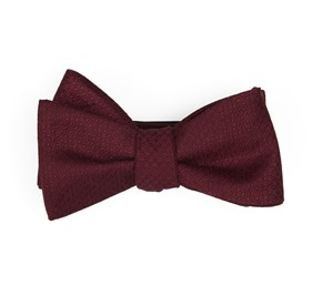 Dotted Spin Burgundy Bow Ties