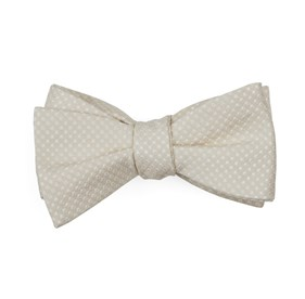 Light Champagne Dotted Spin bow ties