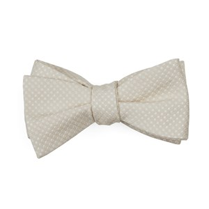 dotted spin light champagne boys bow ties