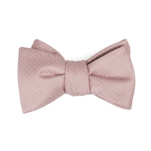 dotted spin blush pink bow ties