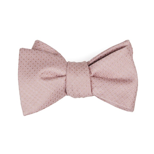 Blush Pink Dotted Spin Bow Tie