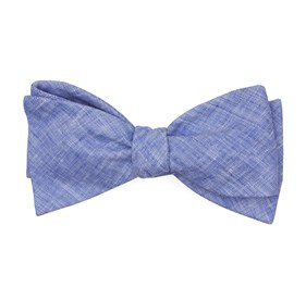Blue South End Solid bow ties
