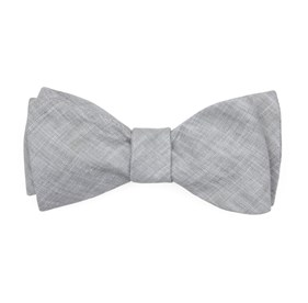 Grey South End Solid bow ties