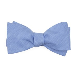 south end solid periwinkle bow ties