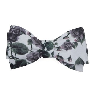 mumu weddings - floral falls purple bow ties
