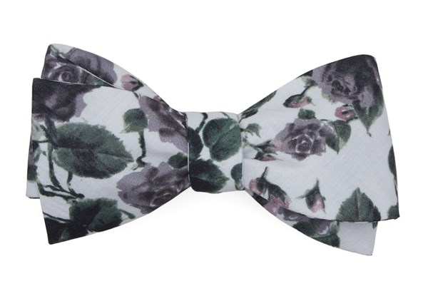 Mumu Weddings - Floral Falls Purple Bow Tie