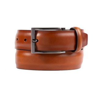 solid leather mocha belt