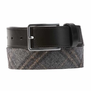 barberis wool sotto charcoal grey belt