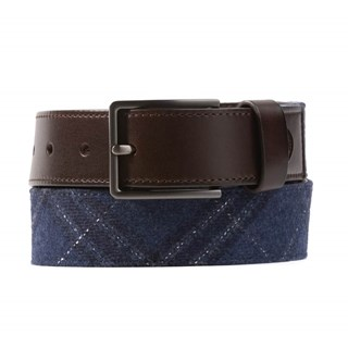 barberis wool sotto navy belt