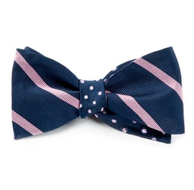Rimmed/Trad Navy Bow Ties