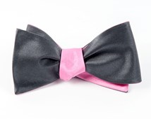 BOW TIES - SOLID SATIN - BRIGHT PINK