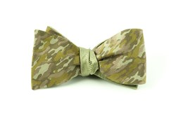 Bow Ties - CAMO HERRINGBONE - GREENS