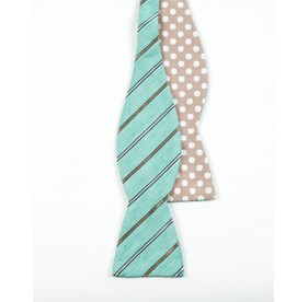Spearmint Cliffside Beach Dot bow ties