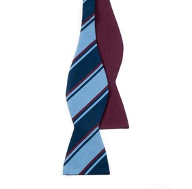 Burgundy Charlotte Academy bow ties