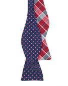 BOW TIES - ANEMONES PLAID - NAVY