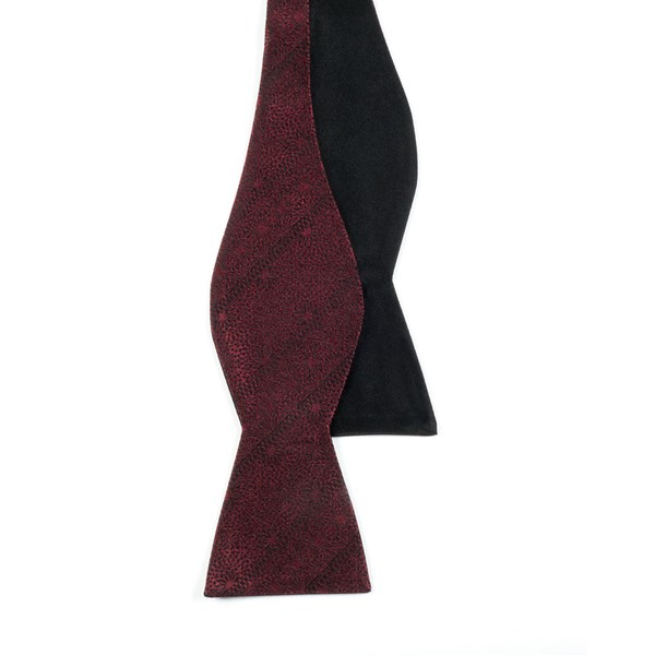 Burgundy Interlaced Solid Bow Tie
