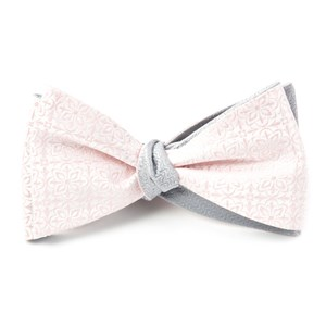 opulent static blush pink bow ties