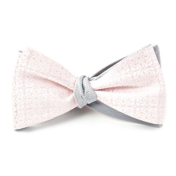 Blush Pink Opulent Static Bow Tie