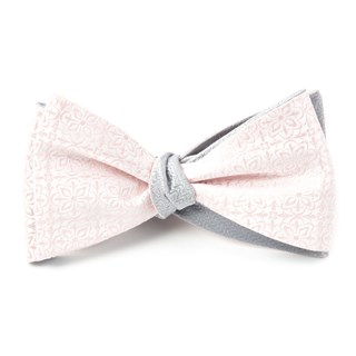 Opulent Static Blush Pink Bow Tie