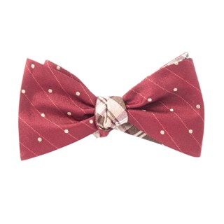 Ringside Narrative Wine Bow Tie