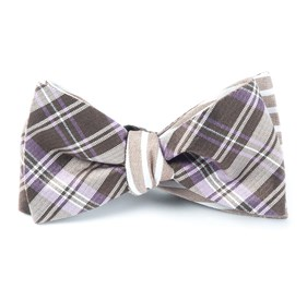 Narrative Stripe Lavender Bow Ties