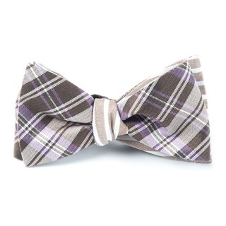 Narrative Stripe Lavender Bow Tie