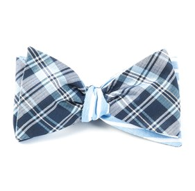 Narrative Stripe Navy Bow Ties