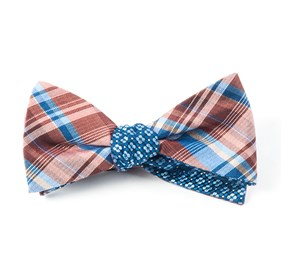 Band Of Geo Marsala Bow Ties