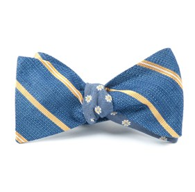 Gold Editor Floral bow ties