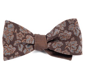 Brown Intellect Pinpoint bow ties