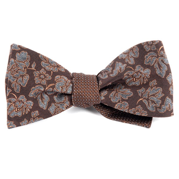 Brown Intellect Pinpoint Bow Tie