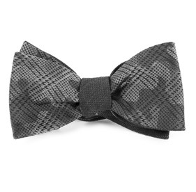 Silver Caliber Textured Solid bow ties