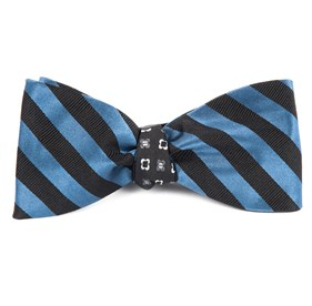 Twill Bloom Whale Blue Bow Ties