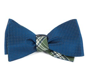 Navy Pinpoint Marshall bow ties