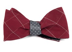 Bow Ties - Goalpost Dots - Burgundy