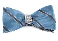 Bow Ties - Kennedy Paisley - Slate Blue