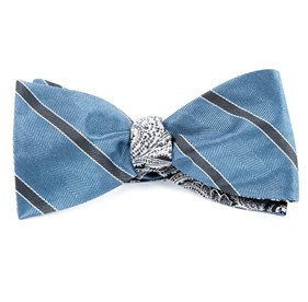Kennedy Paisley Slate Blue Bow Ties