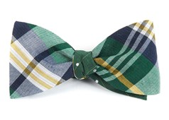 Bow Ties - Crystal Wave Dots - Green