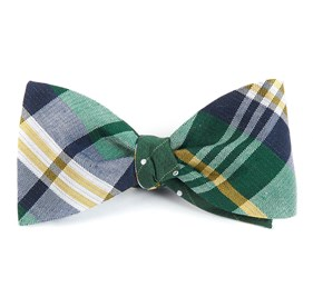 Green Crystal Wave Dots bow ties