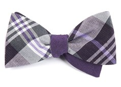 Bow Ties - Crystal Wave Row - Purple