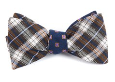 Bow Ties - Plaid Scene - Brown