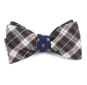 Plaid Scene Brown Bow Ties