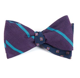 Eggplant Spring Break Medallion bow ties