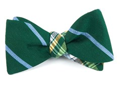Bow Ties - Spring Break Plaid - Green