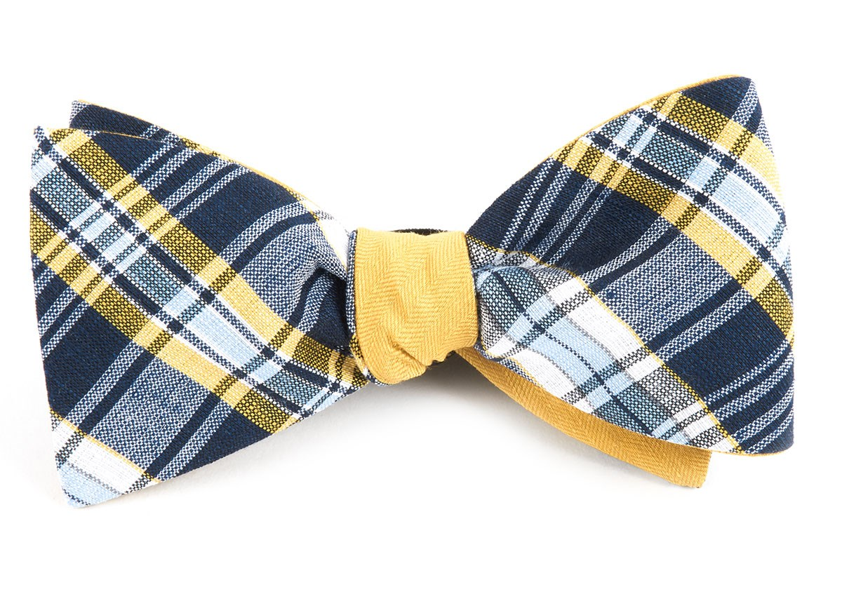 Rnr Row - Navy - Self-Tie - Reversible - Bow Ties