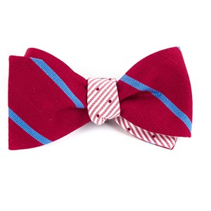 spring break dots red bow ties