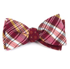 Rnr Medallion Red Bow Ties